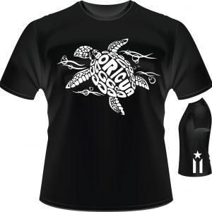 Boricua Turtle And Anarchy Flag t shirt
