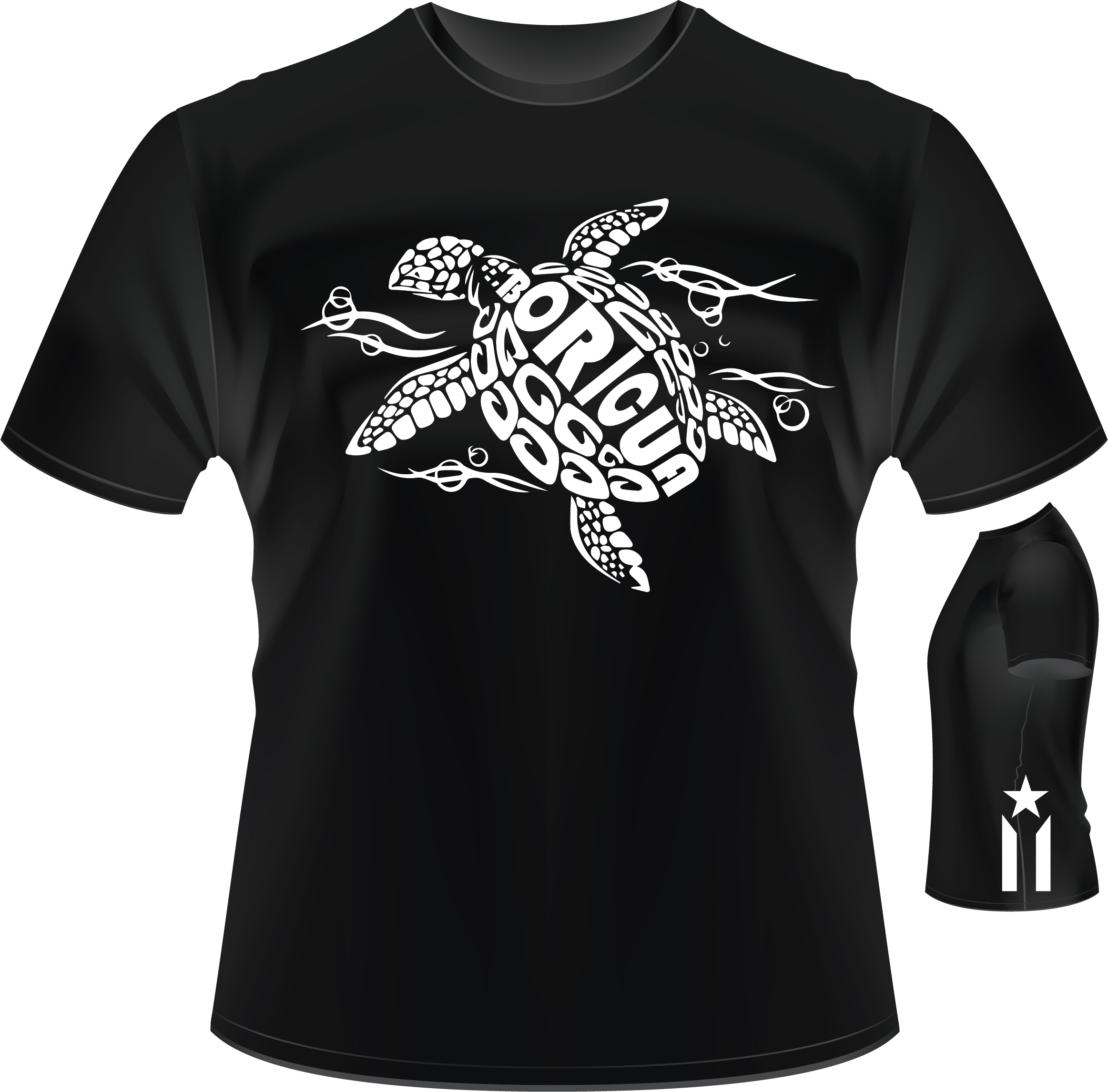 Boricua Turtle And Anarchy Flag t shirt